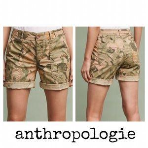 Anthropologie Hei Hei Wanderer Camo Shorts